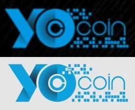 Yocoin on Black and White