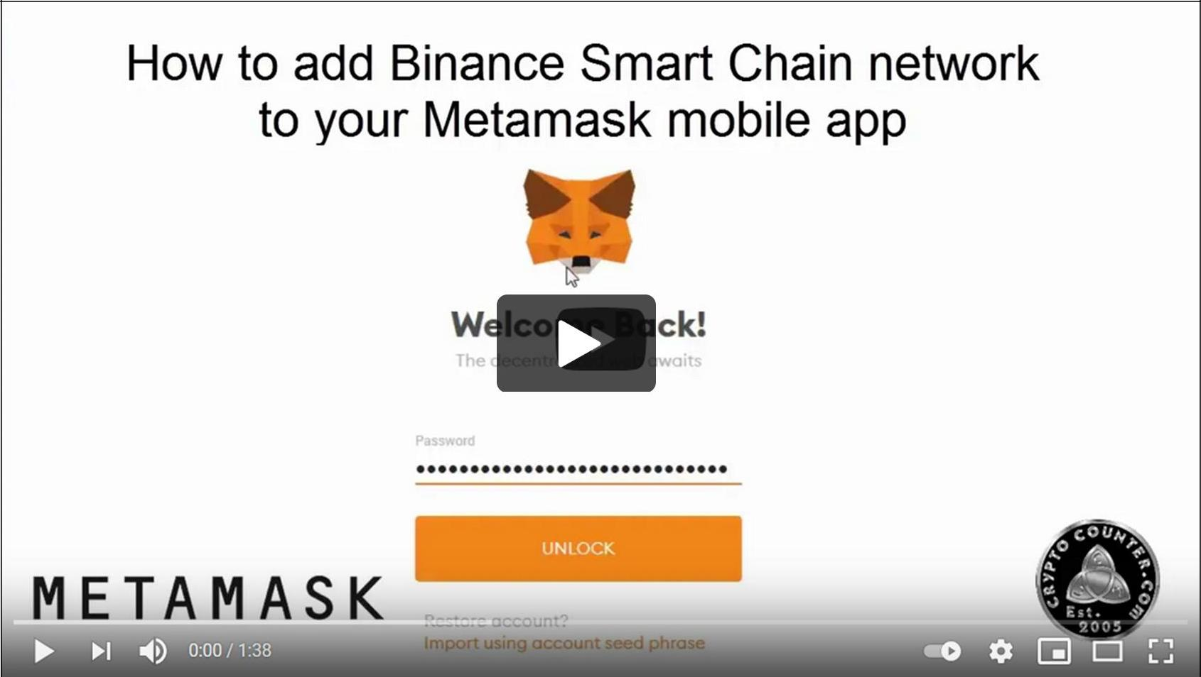 How to add Binance Smart Chain (BSC) to your Metamask iPhone app and Android app